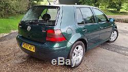 2002 Mk4 Golf GT TDI 130 BHP Green 6 Speed Manual Eco Family Car Volkswagen IV