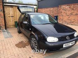 2002 Volkswagen Golf Gt 1.9 Tdi Mk4 5 Doors Diesel Vw Black