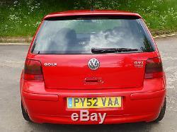 2003 Mk4 VW Golf 25th Anniversary Ltd Edition 1.9TDI PD Tornado Red