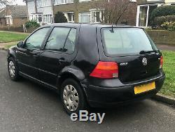 2003 Volkswagen Golf 1.9 TDI SE 5dr MK4 Black Manual Diesel 5 Door Damaged Panel