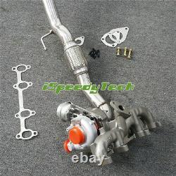 2.25 Exhaust Downpipe + GT1749V Turbo for 99- VW Golf MK4 Jetta Beetle 1.9 TDI