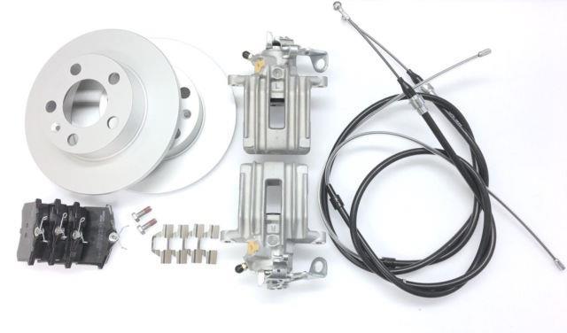 2 X Vw Golf Mk4 & Bora 1.8t 1.9 Tdi 98-05 Rear Brake Calipers Cables Discs Pads
