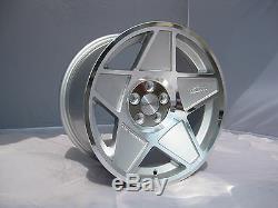 3SDM 0.05 STAGGERED ALLOYS 5x100 18x8.5 ET35 X 4 VW GOLF MK4 GTI GT TDI