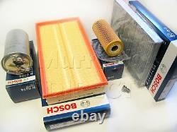 BOSCH Service Kit Oil Air Fuel Cabin Filters Sump Plug for VW Mk4 Golf SDI & TDI