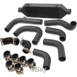 Direnza Black Alloy Front Mount Intercooler Fmic For Vw Golf Mk4 Bora 1.9 Tdi