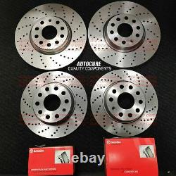 For Audi A6 Avant 3.0 Tdi S Line Mk4 11-15 Drilled Brake Discs & Brembo Pads New