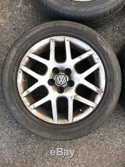 Four Vw BBS Alloy Wheels Golf/Bora Mkiv mk4 gti Tdi 16 + 205 55 R16 Tyres