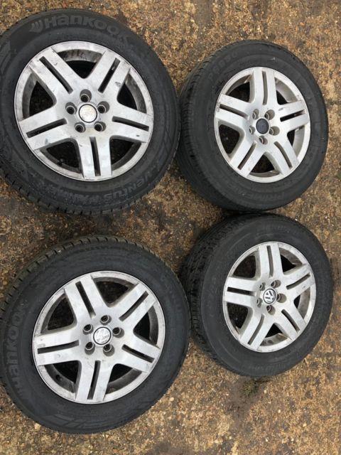 Genuine Vw Golf Mk4 1.9 Gt Tdi Alloy Wheels Full Set X4 195/65/r15 Free P&p