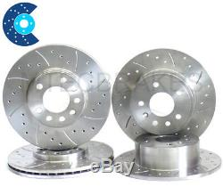 GOLF GT Tdi 130 Drilled Grooved Brake Discs Front Rear