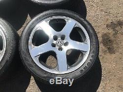 Genuine Speedline VW Golf Mk4 Bora 17 Santa Monica 5x100 Alloy Wheels GTI TDI