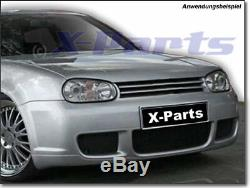 Golf 4 IV Rs Look Bumper Front ABS + Grille Tdi Gti + Certificate Exact Fit
