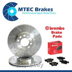 Golf MK4 1.9 130 150 GT TDi Front Drilled Grooved Brake Discs Brembo Pads 288mm