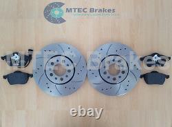 Golf MK4 1.9 130 150 GT TDi Front Drilled Grooved Brake Discs & Mintex Pads