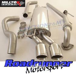 Golf Mk4 Exhaust 1.9 Tdi Milltek & Downpipe & Cat Back Non Resonated Twin Gt80