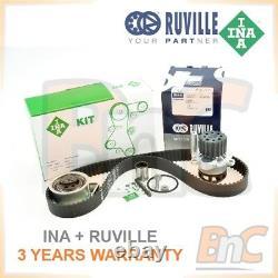Ina Ruville Heavy Duty Timing Belt Kit & Water Pump Set Skoda Fabia 1.9tdi