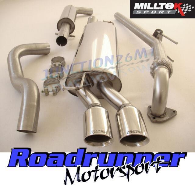 Milltek Golf 1.9 Tdi Mk4 Exhaust Downpipe & Cat Back Resonated Quieter Twin Gt80