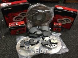 Mintex Front And Rear Brake Discs Pads Vw Golf Mk4 1.8gti 1.9 Gt Tdi Full Set