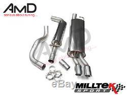 Mk4 Golf 1.9TDi Milltek Sport Resonated Cat Back Exhaust System Discreet