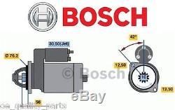 New Genuine Bosch Starter Motor Vw Golf 3 4 Bora Passat Caddy Sharan Polo 1.9tdi