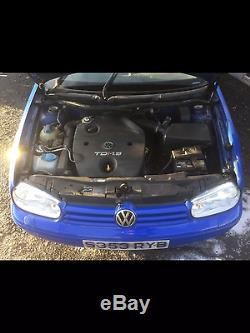 PRESTON Vw Golf Mk4 Tdi 1.9 5dr 5spd manual 103k Jazz blue. Cambelt/headgasket