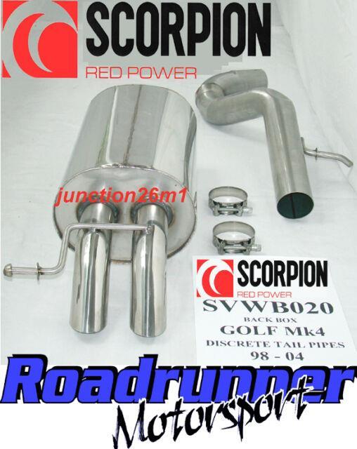 Scorpion Golf Mk4 1.9 Tdi Back Box Stainless Rear Silencer Discrete Tail Svwb020