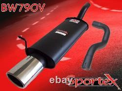 Sportex VW Golf mk4 performance exhaust back box 1.9TDi 1997-2004 OVAL