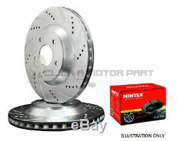 VW GOLF 1.9 GT TDi 1998-2004 FRONT DRILLED & GROOVED BRAKE DISCS AND MINTEX PADS