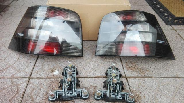 Vw Golf 4 Mk4 Iv Tdi Gti V5 V6 R32 4-motion Hella Smoked Euro Tail Lights