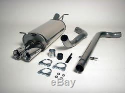 VW Golf MK4 1.8T 1.9TDI Jetex 2.5 Cat back Exhaust System Non Res + Twin Tails
