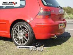 VW Golf MK4 1.8T GTI 1.9 TDI Milltek Cat Back Exhaust Discrete Twin Tip Res