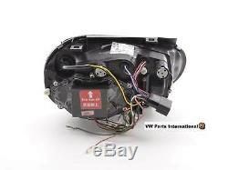 VW Golf MK4 GTI R32 TDI Headlights LED DRL Chrome Left And Right Set (RHD)