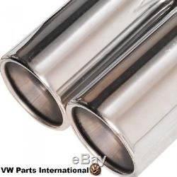 VW Golf MK4 GTI TDI Beetle Performance Cat Back Exhaust System Twin Tails Tips