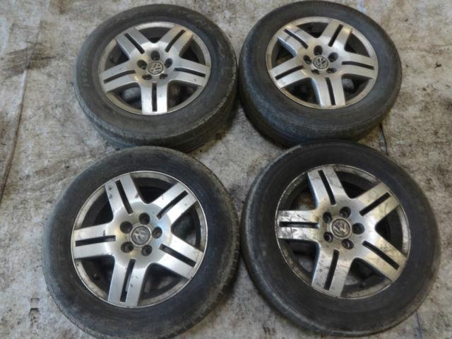 Vw Golf Mk4 Gt Tdi 1998-2004 Alloy Wheels 5x100 15 Inch 6j Et38 195 65 15 Tyres