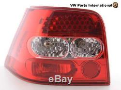 VW Golf MK4 R32 GTI R TDI Rear Tail Lights Brake Stop Lights Red Clear For LEDs