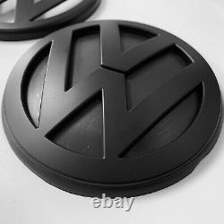 VW Golf MK4 R32 R GTI TDI MATT Black Badge SET Emblem Logo Front Grill
