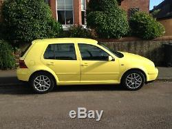 VW Golf Mk4 GT TDi PD130 Colour Concept Yellow Stunning Condition Very Rare 2002