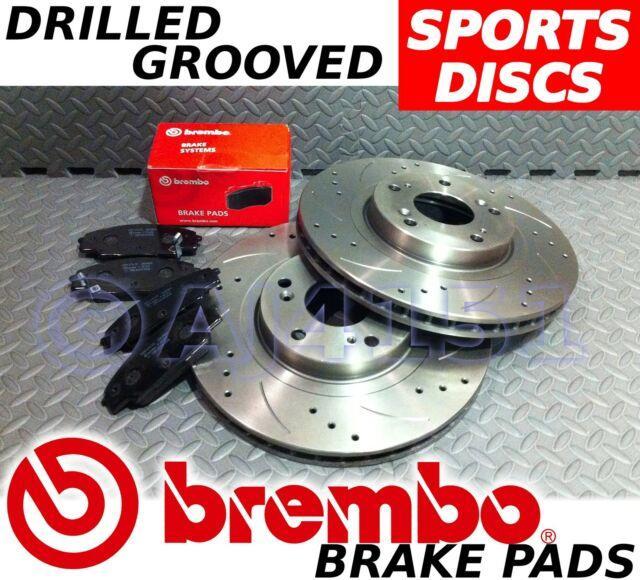 Vw Golf Mk4 Iv Inc. Gti & Tdi Drilled & Grooved Rear Brake Discs Brembo Pads
