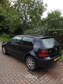 VW Golf mk4 GT TDI 130 3DR Black MOT BARGAIN HPI CLEAR RELIABLE