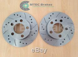 VW Golf mk4 GT TDi 110 MTEC Brakes Front Rear Discs Pads Drilled Grooved