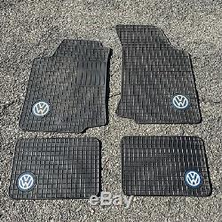 VW MK3 Rubber Floor Mats Set Golf Jetta GTI TDI MK4 OEM Volkswagen MK2 MK4 Black