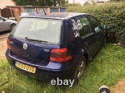 VW Mk4 Golf TDi 1.9PD (130BHP) 2004 120k Miles spares or repairs