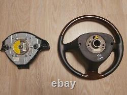 VW Passat B5 B5.5 W8 Wood Wooden Steering wheel 1J0419091BT Golf MK4 Jetta GLI