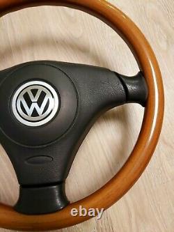 VW Passat B5 B5.5 W8 Wood Wooden Steering wheel 3B0419091AD Golf MK4 Jetta GLI