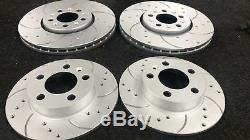 VW Scirocco 2.0 TDI 140 FRONT REAR DRILLED GROOVED BRAKE DISCS AND BREMBO PADS