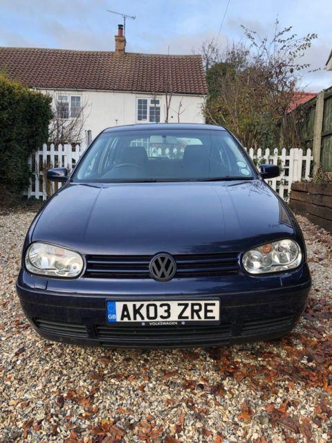Vw Volkswagen Golf Mk4 Diesel 1.9 Gt Tdi 118k Pd130 Blue Bora Vents & W8 Cambs