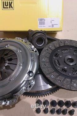 Volkswagen Vw Golf Gt Tdi Arl 6 Speed Flywheel & Clutch & Slave Bearing & Bolts