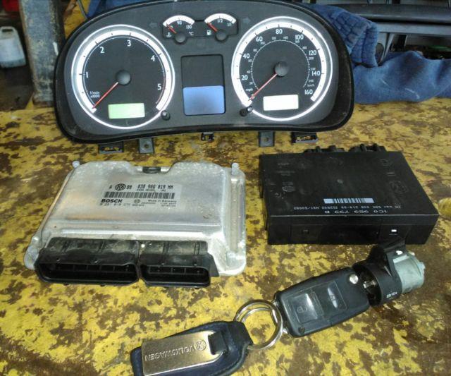 Vw Golf Mk4 1.9 Gt Tdi 150bhp Diesel Ecu + Bsi Kit 038906019hh Highline Clocks