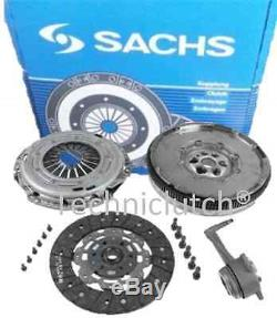 Vw Golf 1.9 Gt Tdi Sachs Dual Mass Flywheel Dmf And Complete Clutch Kit With Csc