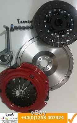Vw Golf 1.9tdi 1.9 Tdi 130 Asz Flywheel, Carbon Kevlar Clutch And Csc With Bolts