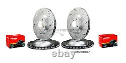 Vw Golf Mk4 Anniversary 1.9 Gt Tdi Front & Rear Drilled Grooved Brake Discs Pads